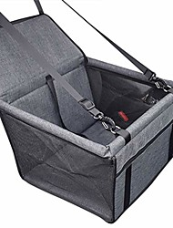 cheap -dog car seat, portable pet dog booster car seat breathable travel pet car seat carrier with seat belt for dogs & cats clip-on safety leash for cat puppy
