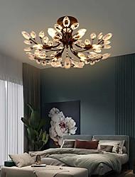 cheap -6-Light 65 cm Crystal / LED Flush Mount Lights Metal Painted Finishes Modern Contemporary 110-120V / 220-240V / E12 / E14