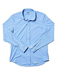 cheap -commuter polo casual wear polo shirt for men, anti-odor, moisture-wicking with 4-way stretch (light blue gingham, large)