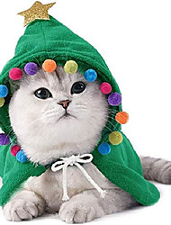 cheap -pet christmas costume puppy xmas cloak with star and pompoms cat santa cape with santa hat party cosplay dress for cats and small to medium sized dog