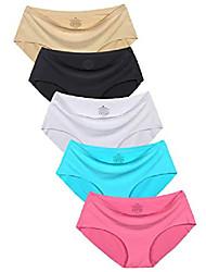 cheap -women's no show hiphugger panties pack of 5 xl