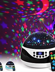 cheap -Night Light LED Projector Music Starry Projection Light with Timer 9 Colors Rotating Night Scape Lights for Kids Bedroom Nursery Lamp Remote Timing Projector USB