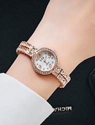 cheap -Women's Bracelet Watch Analog Quartz Glitter Tennis Chain Luxury Casual Watch Imitation Diamond