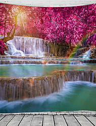 cheap -Beautiful And Spectacular Waterfall Scenery Pattern Tapestry Wall Hanging Tapestry Wall Carpet Wall Art Wall Decoration Tapestry Wall Decoration