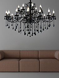 cheap -1-Light LWD 140cm(56inch) Crystal Chandelier Metal Candle-style Painted Finishes Rustic / Lodge / Vintage / Modern Contemporary 110-120V / 220-240V