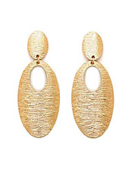 cheap -women oversize geometric twist, oval, hammered square statement metal clip on earring many styles (style e/gold)