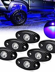 cheap -blue led rock lights with 6 pcs single blue for jk suv trucks rzr jl xj utv atv tj off road car boat glow trail rig lamp led light (ol-16r03-6pc-b)