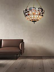 cheap -3-Light 40cm(15.7 Inch) Mini Style Pendant Light Metal Glass Others Tiffany 110-120V / 220-240V