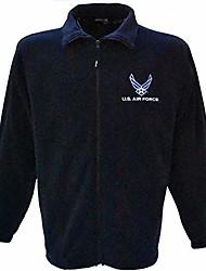 cheap -usaf air force full-zip fleece jacket navy blue