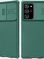 cheap -galaxy note 20 ultra case with camera cover,note 20 ultra liquid silica soft shockproof cover protective with slide camera cover, upgraded case for samsung galaxy note 20 ultra/plus (green)