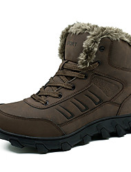 cheap -Men's Boots British Daily Walking Shoes PU Warm Mid-Calf Boots Black Brown Winter