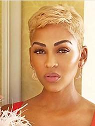 cheap -short blonde pixie cut hair wigs for black women synthetic wigs for black women african american short wigs (8740-blonde)