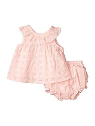 cheap -baby girl's eyelet set (infant) pink 3-6 months