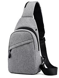 cheap -Men's Bags Oxford Cloth Sling Shoulder Bag Chest Bag Solid Colored Baguette Bag Daily Black Gray