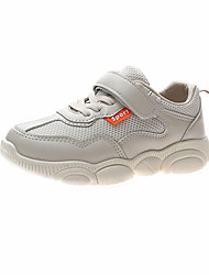 cheap -Boys' Girls' Trainers Athletic Shoes School Shoes Faux Fur Lace up Big Kids(7years +) Daily Walking Shoes White Beige Spring Summer / Booties / Ankle Boots / Rubber