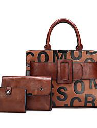 cheap -Women's Bags Bag Set Top Handle Bag Office & Career Bag Sets Handbags Red Brown Black Brown Coffee