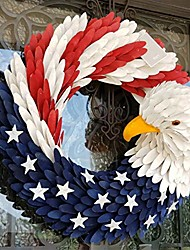 cheap -american eagle wreath-american patriotic wreath, flag wreath for home,patriotic wreath for front door election vote president, for front door decoration (10 in)