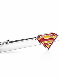 cheap -superhero tie clips for men superman america captain men tie bar personalized gift wedding business