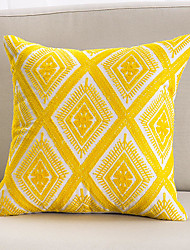 cheap -Fashion Simple Original Creation Design Single Side 3D Yellow Towel Embroidered Cotton  Canvas Pillow Case Cover Living Room Bedroom Sofa Cushion Cover