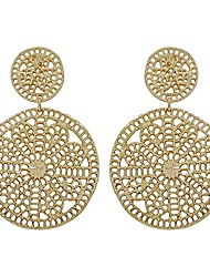 cheap -double crochet link casting filigree post earring (gold)