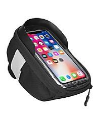 cheap -bike bag bike pouch bicycle phone mount handlebar and frame bike bag bike mobile phone holder cycling bike bag for smart phone 5.5 inch and below (orange)