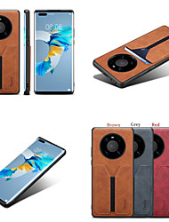 cheap -Case For Huawei Huawei P30 / Huawei P30 Pro / Huawei P30 Lite Shockproof Back Cover Solid Colored PU Leather