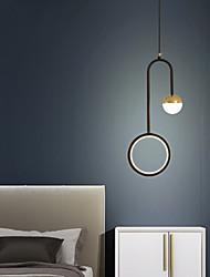 cheap -21cm LED Pendant Light Modern Nordic Circle Ring Simple Corridor Corridor Bedroom Living Room Background Wall Nordic Light Christmas Decoration