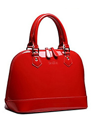 cheap -Women's Bags PU Leather Satchel Top Handle Bag Sequin Zipper Daily Handbags Black Red