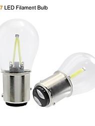 cheap -1pcs 1156 P21W BA15S 1157 BAY15D COB LED Filament Chip Car Brake Lights Auto Reverse Bulb Parking Lamp 12V Red White Yellow