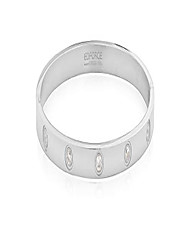 cheap -stainless steel womens hinged cz bangle bracelet size 7.5 inches (silver)