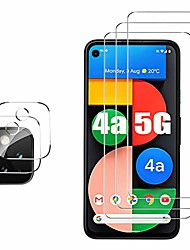 cheap -3-PCS TransparentScreen Protector+ 2-PCS Camera Lens Protector For Google Pixel 5 Pixel 4 XL Anti-Fingerprint Anti-Scratch Tempered Glass For Google Pixel 4a/ Pixel 4a 5G