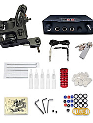 cheap -Tattoo Machine Starter Kit - 1 pcs Tattoo Machines Professional Kits Easy to Install Alloy Mini power supply Case Not Included 1 cast iron machine liner