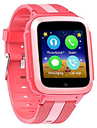 cheap -smart watch unlocked 2g gsm two way phone call sos call touchscreen front camera games learning numbers (rosy)