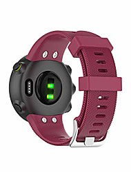 cheap -compatible with garmin forerunner 45 bands women men forerunner 45s wristband, silicone replacement fitness strap watch band bracelet for garmin forerunner 45 smartwatch (liquor red)