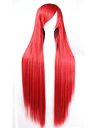 """cheap -39"""" long straight wig with bangs costume party straight wig (red)"""
