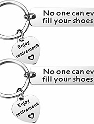 cheap -retirement keychain gifts for coworker - 2pcs no one can ever fill your shoes mens retirement gifts