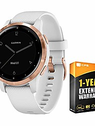 cheap -010-02172-21 vivoactive 4s smartwatch white/rose gold bundle with 1 year extended warranty