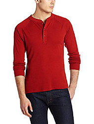 cheap -men's rendezvous henley shirt, engine red, large