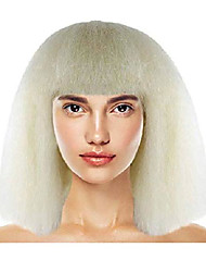 cheap -pop star wig (adult, blonde)