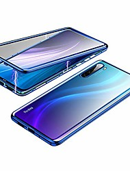cheap -metal magnetic aluminum alloy frame tempered glass phone case for xiaomi redmi note 8 [6.3 inch] (redmi note 8, blue)