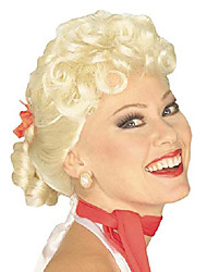 cheap -women's 50's housewife wig, blonde, one size