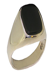 cheap -solid 925 sterling silver natural onyx mens gents signet ring - size 9.5 - sizes 6 to 13 available