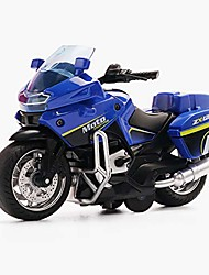 cheap -pull back vehicles police motorcycle toys, friction powered die cast racing motorcycles with music lighting, pullback toy gift for christmas brithday (blue)