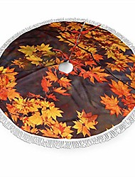 "cheap -autumn leaves christmas tree skirt 30"""" tree skirt for holiday christmas decorations xmas tree skirt xmas decorations"