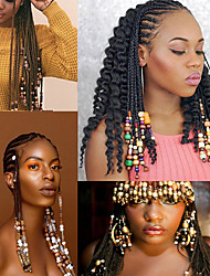 cheap -1Pack Fine Packaging Wood Beads Small Flower Beads 45pcs Wig Braid Hair Beads Hair Accessories Wood Braid Accessories Wig Accessories Africa Heir wear Ethnic Tribal Totem Hair Ornament