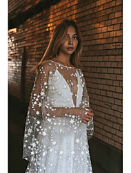 cheap -Women's Swing Dress Maxi long Dress - Long Sleeve Solid Color Sequins Lace Fall Elegant Sexy Party Cotton Slim 2020 White S M L XL