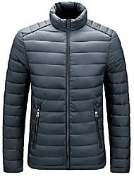 cheap -Men's Coat Parka N / A Nylon 908 Army Green / 908 Turmeric / 908 navy 2XL (160-180 kg) / 3XL (180-200 kg) / 4XL (200-220 kg)