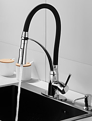 cheap -Single HandleKitchen Faucet,Electroplated One Hole Pull Out/Rotatable/Bar/Prep/Multi-function Standard Spout, BrassDeck Mounted Kitchen Faucet