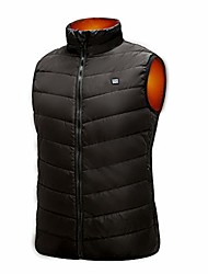 cheap -mount marter heated vest, usb men heated vest with three heating modes for outdoor activities black (l)