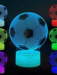 cheap -3D Football Night Light Color-changing World Cup Soccer Ball Lamp Christmas Gift 3D Visual LED Night Light USB Touch Switch Desk Bedside New Year's Decoration